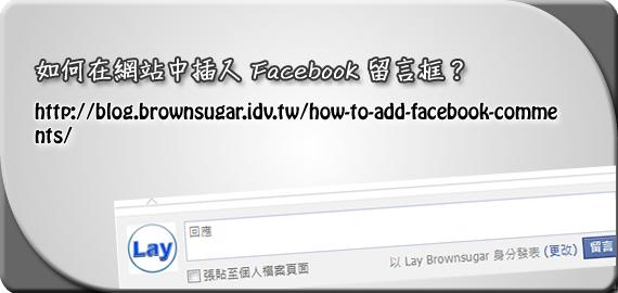 如何在網站中插入 Facebook 留言框?