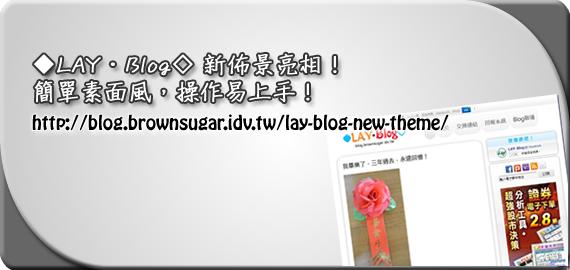 ◆LAY‧Blog◇ 新佈景亮相!簡單素面風,操作易上手!